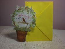Carol's Rose Garden - Happy Birthday - Singing Robin in Flower Pot on Cover