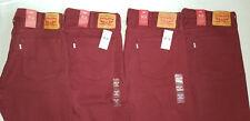 NEW Men's Levi's 513 Slim Straight Stretch Jeans Size W38 L32 38X32 Burgundy