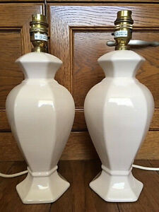 A Pair of Ceramic Table Lamps / Bedside Lamps by St. Michael