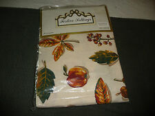 #64UU vtg packaged AVON FALL design LEAFS  Apples tablecloth  80'' x 84'' oblong