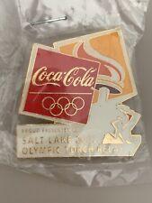 Salt Lake 2002 Olympic Torch Relay Coca-Cola Pin Badge