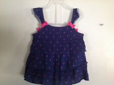 2 PC  Infant Shorts Outfit 24 M Navy & Pink NWT Polka Dots Ruffles  & Bows
