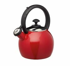 KitchenCraft Le'Xpress Enamel-Coated Vibrant 1.3 Litre Kettle - Red