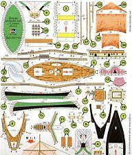 Roman Merchant vessel Czech rare Paper Model 1 : 400