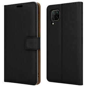"""For Huawei P40 Lite, 6.4"""" Leather Wallet Flip Phone Case Cover + 9H Screen Glass"""
