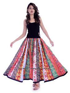 5 PC Lot Gypsy Patchwork Hippie Bohemian Festival Cotton Skirt Dress Indian Wrap