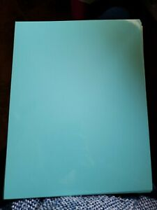"HIGH GLOSS Cardstock 8.5""X11""-Turquoise TEAL - 30 SHEETS"