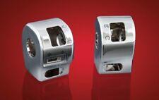 Yamaha V-Star XVS 650 CLASSIC & SILVERADO - chrome switch box HOUSINGS (pair)