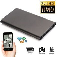 Black WIFI 1080P HD Spy Hidden IP Camera Power Bank Wireless Video Recorder Cam