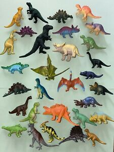 """30 Different Toy Dinosaur Dino Plastic Figures Assorted Toys from 2"""" to 4"""""""