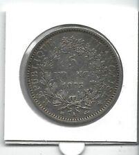 FRANCE 5 Francs Argent Hercule 1873 A