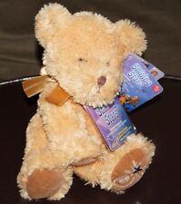 "Russ Berrie Shining Stars Honey Bear Plush 10"" Glitter Stuffed Animal w/Bow NWT"