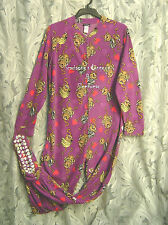 WOW~JOE BOXER MONKEYS ADULT FLEECE ONE PIECE ONESY FOOTED FOOTIE PAJAMAS~1X~NEW