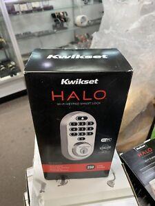 Kwikset 99380-001 Halo Wi-Fi Smart Lock Keyless Entry, Satin Nickel BRAND NEW
