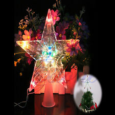 New Xmas Ornament Changing Star Christmas LED Light Lamp Tree Home Decoration