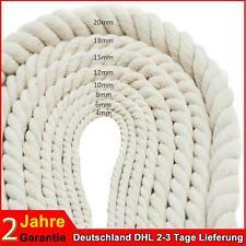 4-20mm Seil Baumwolle Baumwollseil Baumwollseil gedreht Naturseil Schnur Band DE