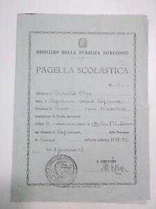 PAGELLA SCUOLA ELEMENTARE DI CAPRAUNA CUNEO 1958-59 10BIS-73