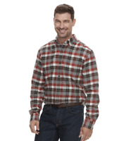 Croft & Barrow Men's Slim-Fit Flannel Button-Down Shirt Multi Plaid Size XL NWT