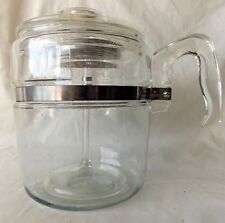 Vtg Pyrex Flameware Coffee Pot Percolator #7759B 6-9 Cup Complete #4518