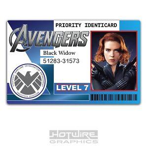 Plastic ID Card (TV & Film Prop) - Black Widow MARVEL AVENGERS Identicard
