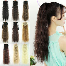 "21"" Women Girls Long Wavy Hair Curly Hair Extensions Ponytail Synthetic 54"