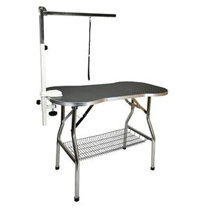 "Heavy Duty Stainless Steel Pet Dog Portable Grooming Table 32x21"" by Flying Pig"