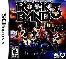Rock Band 3 SEALED W/ CASE Nintendo DS DSI XL LITE 3 3DS 2 2DS **FREE SHIPPING!!