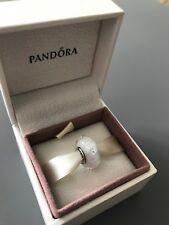 White Fizzle Genuine PANDORA murano charm