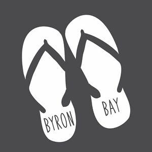 CAR STICKER BYRON BAY THONGS JANDALS FOR CAR BOAT BUS VAN SURFBOARD MACBOOK iPad