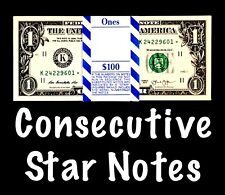 2013 Dallas 1$ Consecutive Star Notes From A BEP Strap Replacement Notes UNC K1