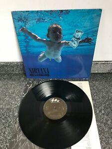 LP VINYL ALBUM NIRVANA NEVERMIND UK 1ST PRESS 1991 GEFFEN MISPRINT INNER VG+/VG