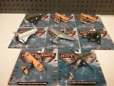 8X Hot Wings Die Cast LOT Collectible Planes Unopened SOME DUPE SEE PICS SHUTTLE