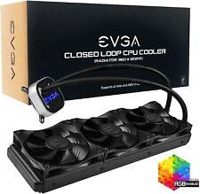 EVGA CLC 360 AIO RGB LED CPU Liquid Cooler  3x120mm PWM Fans   Intel AMD   360mm