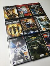 Lot Of 9 Playstation 2 Games Shooting