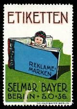 Germany Poster Stamp - Selmar Bayer - Etiketten / Reklame-Marken Advert