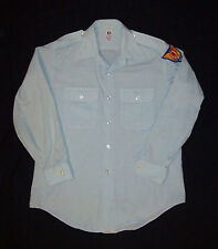 Old vtg 1970s Vietnam War Era Civil Air Patrol Shirt USAF Flying Cross W/ Patch