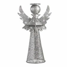 Christmas Tree Topper Silver Treetop Angel Decoration Figure For Home Ornaments