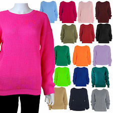Unbranded Women's Acrylic No Pattern Crew Neck Jumpers & Cardigans