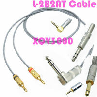 """3.5mm 1/8"""" 6.35mm 1/4"""" to + - banana plug Audio DIY splitter Cable L2B2AT canare"""