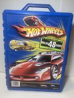 Vintage Mattel Hot Wheels 48 Car Carry Case 20020 Blue Box Tara Toy Handle