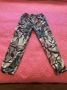Vintage Predator Camouflage Camo Hunting Cargo Elastic Waist Pants USA Men 32-34