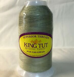 King Tut 100% Cotton Thread 40 wt. #975 Reed by Superior 2000 yd. Cone