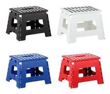 Home Basics NEW Small Folding Step Stool with Non-Slip Dots Black White FS01356