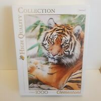 High Quality Clementoni Collection Puzzle 1000 Piece Tiger - Brand new Sealed