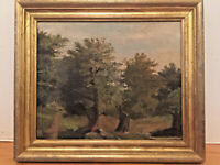 Orig. Oil Painting-  American Impressionist - House In Lush Landscape