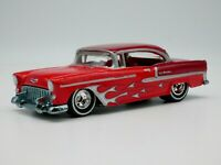 1955 Chevy Bel Air 1/64 Scale Diecast Diorama Rare Car Real Riders Two Tones Red