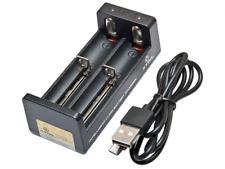 CARICABATTERIE XTAR MC2 USB x 18650 PANASONIC NCR SONY VTC5 SAMSUNG ICR LG MH1