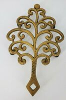VINTAGE  John Wright Inc. Cast Iron Footed Trivet  #244 Gold Tone