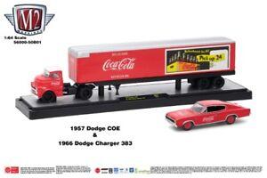 M2 Coca Cola Hauler '57 Dodge COE & '66 Dodge Charger 383