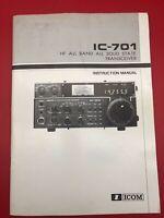 Original ICOM IC-701 HF All Band Solid State Transceiver Instruction Manual